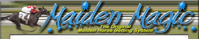 Horse Betting System for Maiden Races!